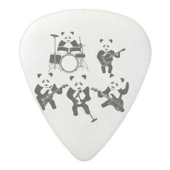 Cute Panda Rock Band Acetal Guitar Pick by teedare at Zazzle