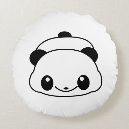 Cute Panda Pillow : Cute panda round pillow Zazzle