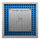 Cute Panda; Silver 5.25x5.25 Square Paper Invitation Card