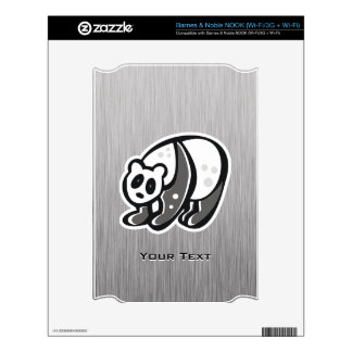 Cute Panda; Silver Skins For The NOOK