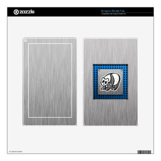 Cute Panda; Silver Kindle Fire Skin