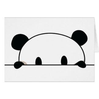 Cute panda spy card