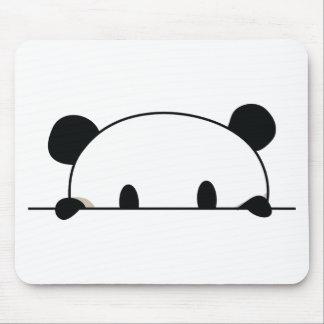 Cute panda spy mouse pad