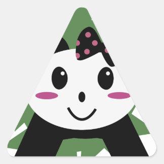 Cute panda triangle sticker