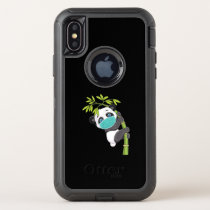 Cute Panda Wear Face Mask Funny Panda Gift OtterBox Defender iPhone XS Case