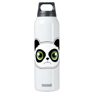 Cute Panda with Attitude - Sad Panda Insulated Water Bottle