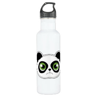 Cute Panda with Attitude - Sad Panda Stainless Steel Water Bottle