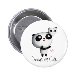 Cute Panda with Balloon 2 Inch Round Button