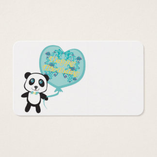 Cute panda with balloon Business Card