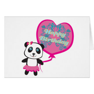 Cute panda with balloon Card