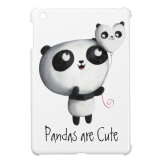 Cute Panda with Balloon Case For The iPad Mini