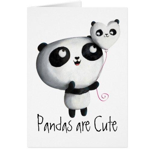 Cute Panda with Balloon Greeting Card