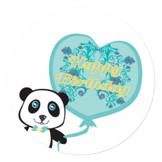 Cute panda with balloon Invitation
