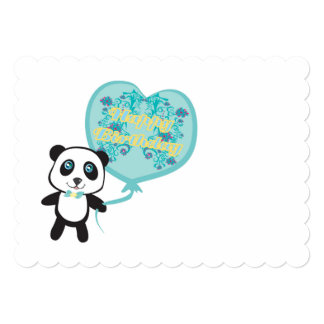 Cute panda with balloon Invitation