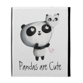 Cute Panda with Balloon iPad Folio Cover