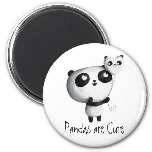 Cute Panda with Balloon Refrigerator Magnet