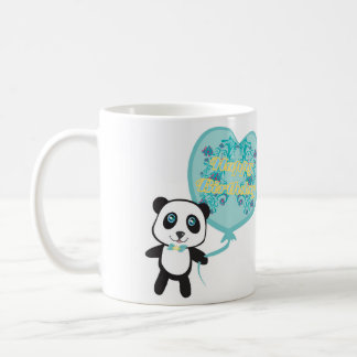 Cute panda with balloon Mug