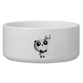 Cute Panda with Balloon Dog Water Bowls