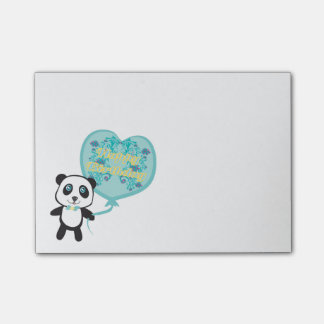 Cute panda with balloon Post-It Notes