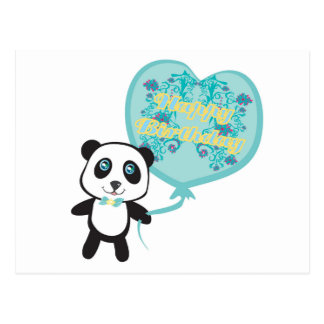 Cute panda with balloon Postcard