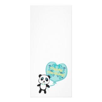 Cute panda with balloon Rack Card