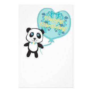 Cute panda with balloon Stationery
