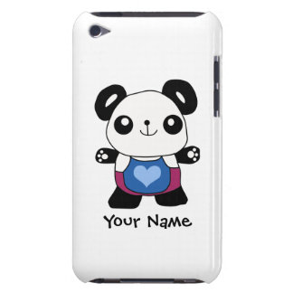 Cute Panda With Heart Barely There iPod Case