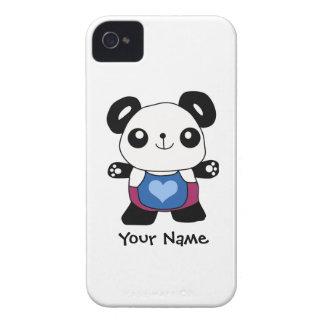 Cute Panda With Heart iPhone 4 Case