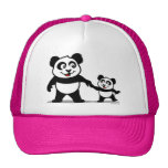 Cute Panda With One Baby Trucker Hat
