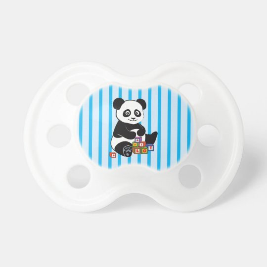 Cute Panda with toy blocks Pacifier