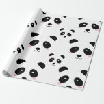 cute panda wrapping paper