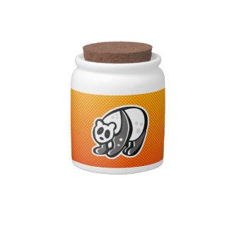 Cute Panda; Yellow Orange Candy Jars