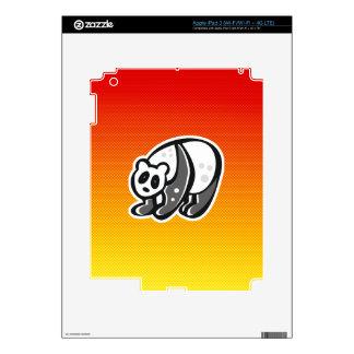 Cute Panda; Yellow Orange iPad 3 Skin