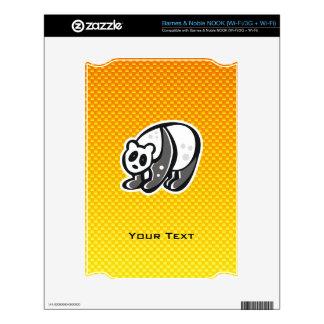 Cute Panda; Yellow Orange Skin For The NOOK