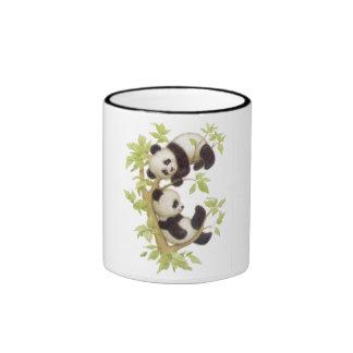 Cute Pandas Ringer Mug
