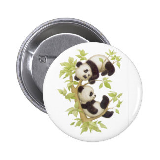 Cute Pandas Pinback Button