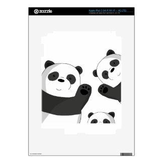 Cute pandas skins for iPad 3