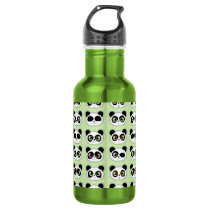 Cute Pandas with Attitude Pattern Water Bottle
