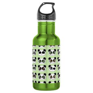 Cute Pandas with Attitude Pattern Water Bottle