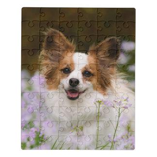 Cute Papillon Spaniel Head Photo for Dog Lovers -' Jigsaw Puzzle
