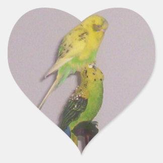 cute parakeet heart sticker