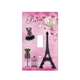 Cute Paris Eiffel Tower Fashion Light Switch Cover