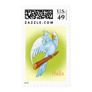 Cute parrot - Postage template
