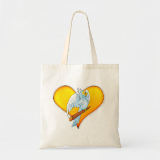 Cute parrot with big heart - Bag