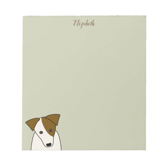 cute Parson Jack Russell Terrier personalized Notepad