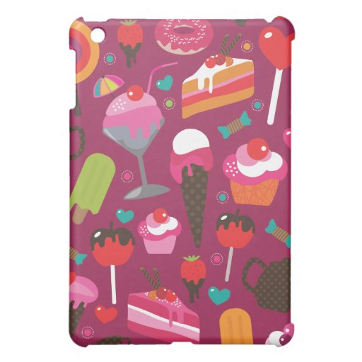 Cute part snacks candy ice cream cake case iPad mini cases