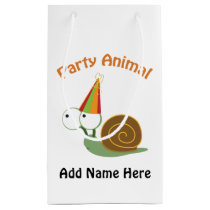 Cute Party Animal Snail Small Gift Bag