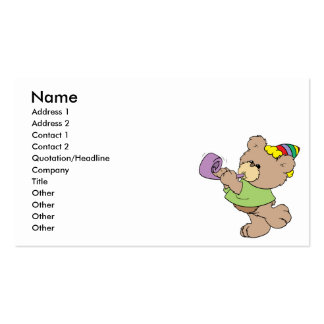 cute party bear with party favor design Double-Sided standard business cards (Pack of 100)