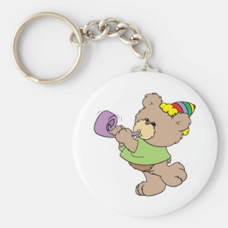 cute party bear with party favor design keychain