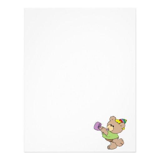 cute party bear with party favor design letterhead